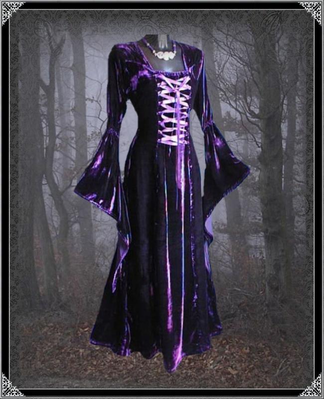 vampire langes gothic kleid emanuel inter moden ebay. Black Bedroom Furniture Sets. Home Design Ideas