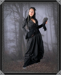 Steampunk - Langes Gothic Kleid Georgia @e