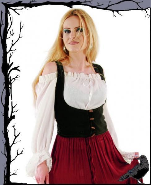 New Romantic Gothic Bluse Sadira  Bäres