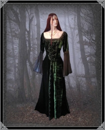 New Romantic - Langes Gothic Kleid Rubyfay @
