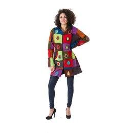 Nico  Bäres Ethnic Hippie Goa Mantel Jacke Wolle mit Fleece Futter