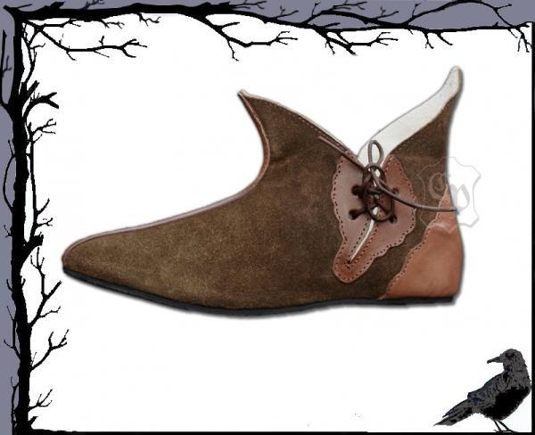 Mittelalter Halb-Stiefel aus Wildleder - Mythos-Aera Yvonne   Nico Rem eb3da3af9a